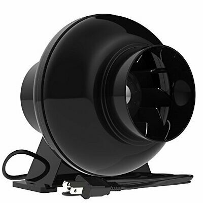 4 Inch 195 CFM Inline Duct Ventilation Fan Vent Blower for Grow Tent
