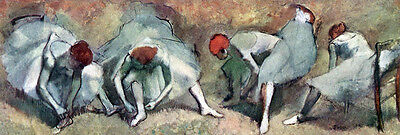 """perfect 72x24 oil painting handpainted on canvas """"Dancers Lace Their Shoes""""N4055"""