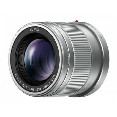Panasonic 42,5mm F1.7 Asph SILVER Lumix G WARRANTY FOWA 4 Years