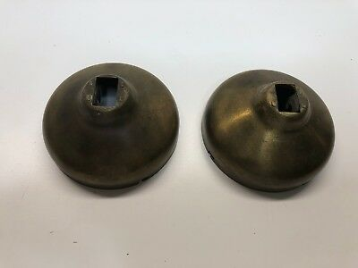 """Vintage Antique Wood Wall Telephone Solid Brass Bells - 3"""""""