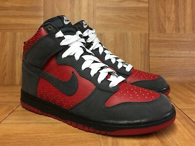 new concept 14933 d0bd7 RARE🔥 Nike Dunk High Varsity Red Anthracite Suede White 9 317982-601  ULTRAMAN