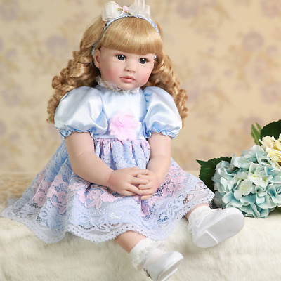 "22"" Toddler Reborn Princess Baby Girl Doll Toy Lifelike Silicone Vinyl Kids Gift"