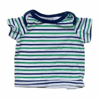 First Impressions Baby Boys  Striped Tee, size NB,  blue/navy, white, green