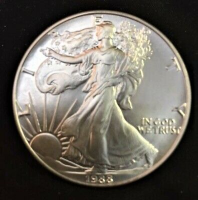 1988 American Silver Eagle 1 oz (Brilliant Uncirculated) From mint roll