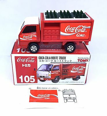 JAPAN TOMY TOMICA No.105 COCA COLA ROUTE TRUCK 1/68 DIECAST DELIVERY TRUCK