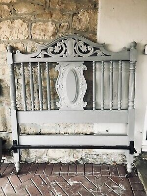 Hand Painted Victorian Double Bed Frame