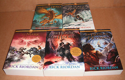 The Heroes of Olympus Vol. 1,2,3,4,5 Complete Set by Rick Riordan  Paperback NEW