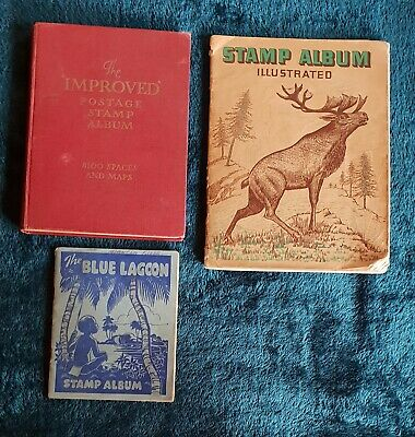 3 Albums Containing a LARGE Collection of Old Used World Stamps