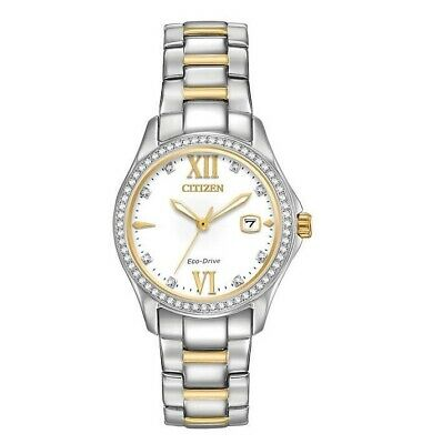 Citizen FE1144-85B Women's Eco-Drive Crystal Accented Bezel Two-Tone Watch