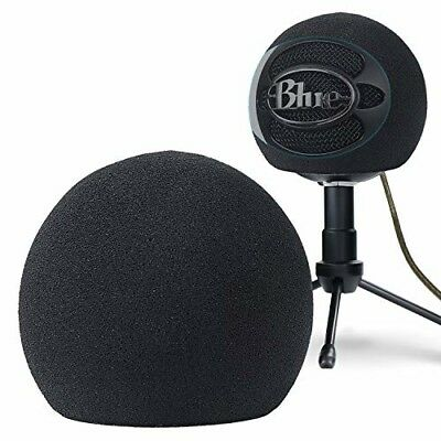 Microphone Windscreen Foam Cover Pop Filter For Blue Snowball Ice Mic Black UK
