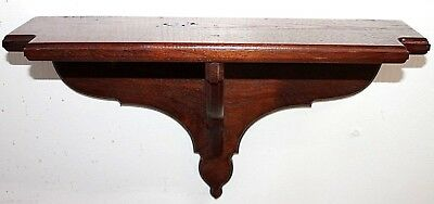 Vintage Carved Mahogany Hanging Clock Wall Shelf For A Bracket Or Shelf Clock.
