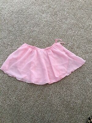 90d4f3eb84af GIRLS POPATU PINK DANCE SKIRT roses FANCY ballet wear over leotard ...