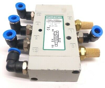 Numatics L22PP452O0000000 Air Pilot Valve, 2-Position, 5-Way, 145psi Max