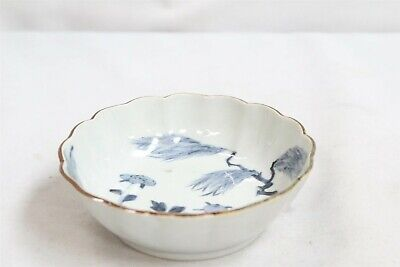 Old Chinese Porcelain Blue White Branches Flowers Bowl Signed Eternal Youth