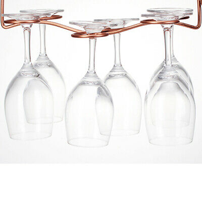 Red Wine Glass Rack Hanging Upside Down Cup Holder Hanging Goblets Wine Rack S