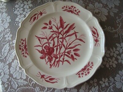 "Wedgwood Williamsburg Iris Pattern Bread Butter Plate 6 1/4"" Red EUC"