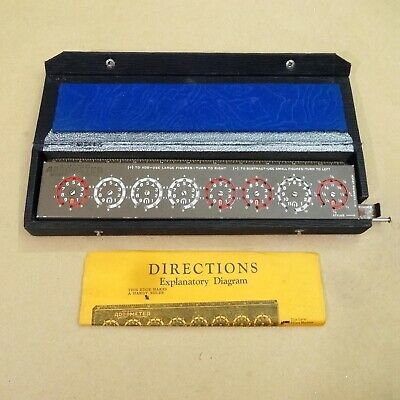 ADDOMETER by Lyons Assoc., Chicago, IL - Leatherette Case, Stylus, Instructions.