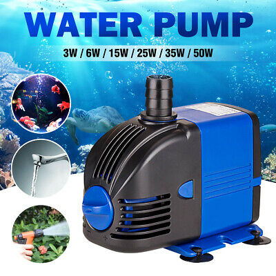 200-2800L/H Submersible Water Pump Aquarium Tank Fountain Hydroponic US Plug