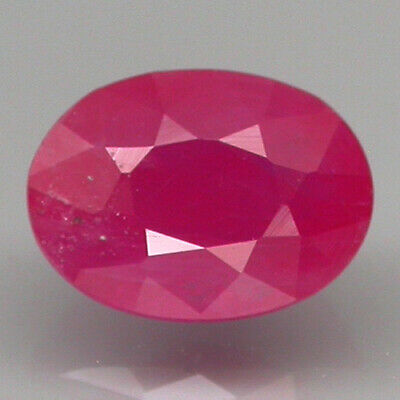 Museum Gem! 1.38 ct. 100%NATURAL TOP RED PINK NORMAL HEATED RUBY MOZAMBIQUE