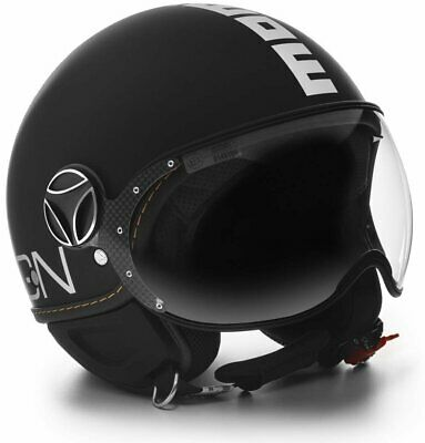 Helm Momo Design Fighter Evo Black Matt - White Größe M / L