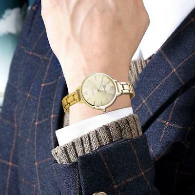 Gold Color Watches Luxury Stainless Steel Analog Quartz Watch for Women Men GL