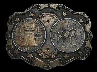 Mg07143 Vintage 1976 **Two Hundred Years Of Freedom** Bicentennial Belt Buckle