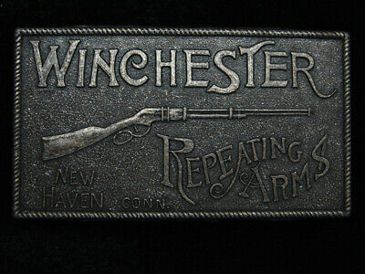QE09123 VINTAGE 1970s **WINCHESTER REPEATING ARMS** GUN & FIREARM BELT BUCKLE