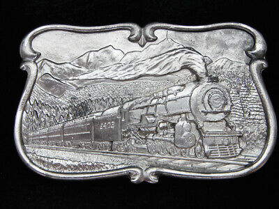 Pe11147 Vintage 1984 **Steam Engine Train** Railroad Commemorative Belt Buckle