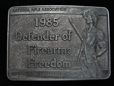 Pk03117 Vintage 1985 *National Rifle Assoc. Defender Of Firearms Freedom Buckle