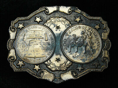 PG19141 VINTAGE 1970s **LIBERTY BELL** 200 YEARS OF FREEDOM BICENTENNIAL BUCKLE