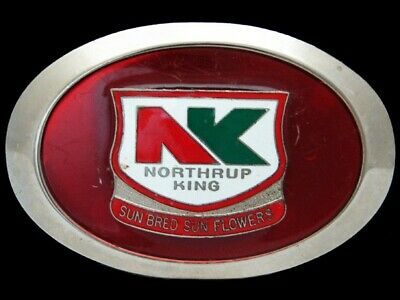 QF01128 VINTAGE 1970s **NORTHRUP KING** FARMING & AGRICULTURE COMPANY BUCKLE