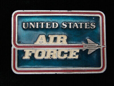 QG29102 VINTAGE 1970s **UNITED STATES AIR FORCE** MILITARY PEWTER BELT BUCKLE