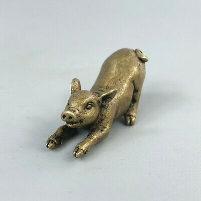 Brass Goat on green jade.rare,very detailed item,collectable.gift
