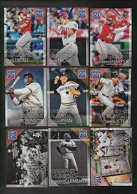 2019 Topps Series 1 Lot of 33 150 Years Greatest Moments Inserts With Duplicates