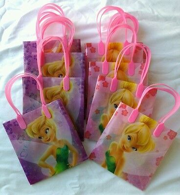12 pcs Disney Tinkerbell Goody Gift Bag Birthday Party Favor Wholesale Pink NEW