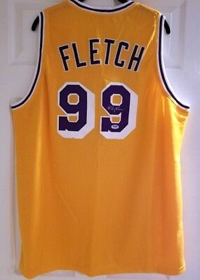 5a2284da7c4 CHEVY CHASE SIGNED FLETCH Lakers Basketball Jersey Irwin Fletcher ...
