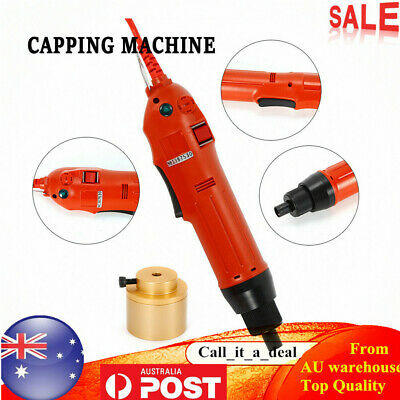 NEW Handheld Electric Bottle Capper Screw Capping Sealing Sealer Machine 220V AU