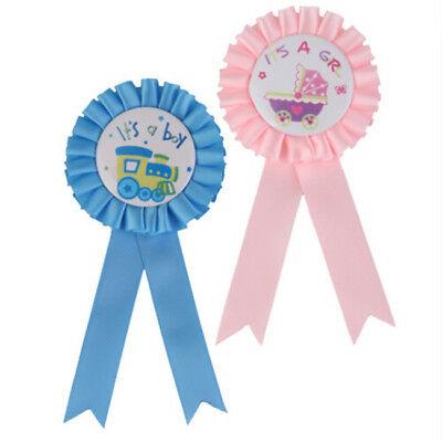 Colors Baby Shower Party Award Ribbon Rosette Badge Brooch Ideal For Games BS