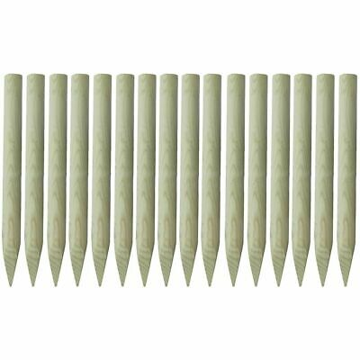 vidaXL 16x Pointed Fence Posts 5x100cm FSC Impregnated Wood Fencing Stakes