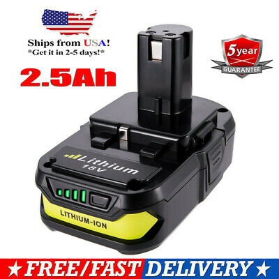 New For P102 P103 P108 Ryobi 18V One+ Plus 18 Volt Lithium-Ion Battery 2.5Ah US