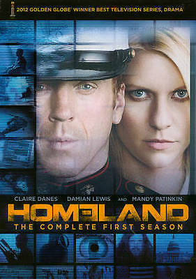 Homeland: The Complete First Season (DVD, 2012, 4-Disc Set) BRAND NEW SEALED