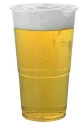 1000 x Recyclable Plastic Party Pint Glasses Tumblers. Free Next Day Delivery
