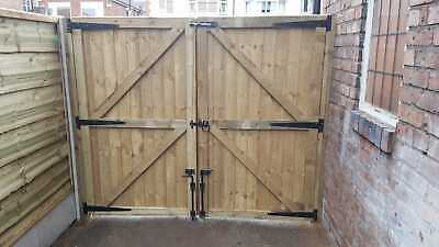 Bespoke Driveway Gates Heavy Duty Fully Framed Treated Garden Gates