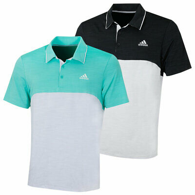 adidas Golf Mens Ultimate365 Heather Chest Logo Stretch Polo Shirt 44% OFF RRP