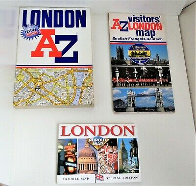 London Az - London Popout Map - London Tourist Map - All Excellent