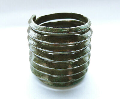 SUPERB GENUINE ANCIENT VIKING BRONZE RING - wearable -