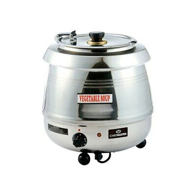 Chefmaster 10 Litre ltr Soup Kettle Stainless Steel  HE9575  Catering Hinged Lid