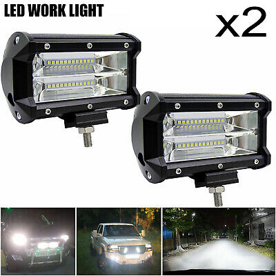2x Car Truck LED Work Spot Light 12V 24V 72W  Flood Driving Bright Bulb SUV UK