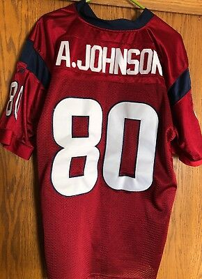 2299d860b Reebok NFL Football Houston Texans Andre Johnson  80 Jersey Size 52