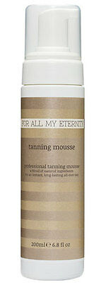 For All My Eternity Self Tanning Mousse, Dark Fake Tan with guide colour 200ml